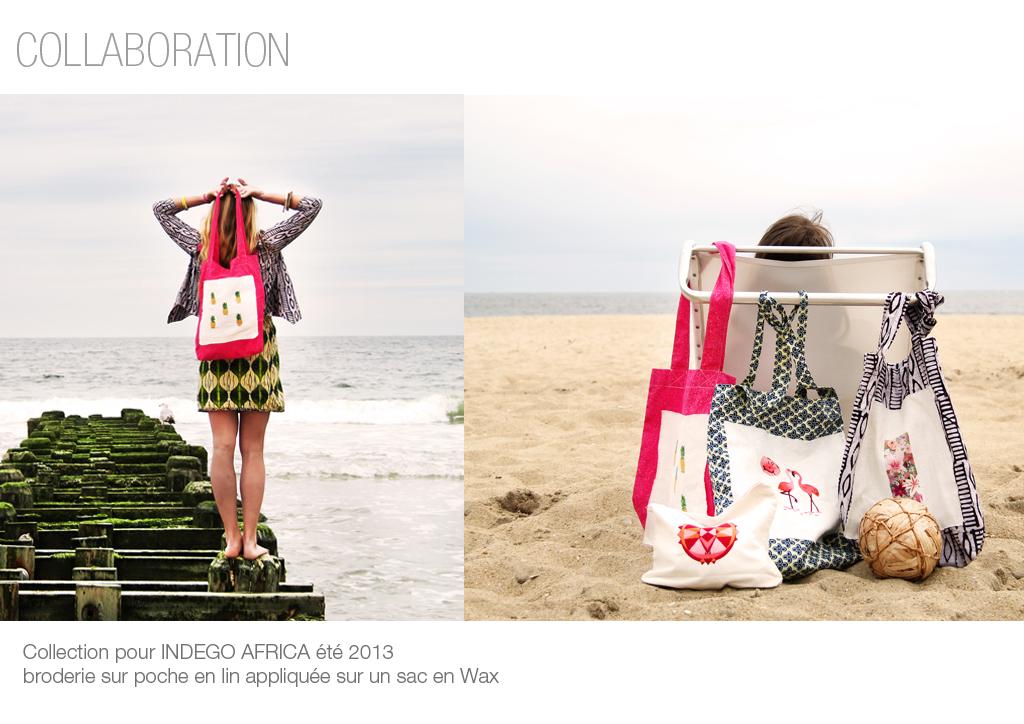Photo de broderie, Collaboration Indego Africa Ibaba Rwanda
