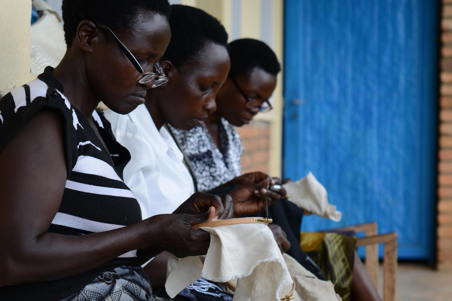 Brodeuses -  embroiderers Ibaba Rwanda