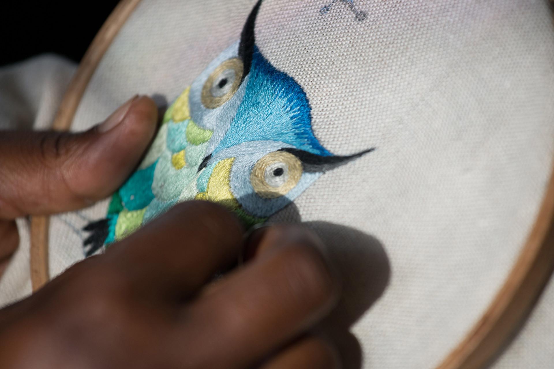 Broderie HouHou - embroidery HouHou Ibaba Rwanda